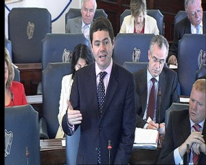 Paschal addressing the Seanad